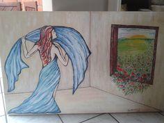 Quadro de 1,20 X0,80 cm feito por Ilsa Helena Almeida em Janeiro de 2015.