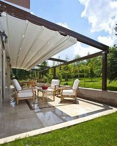 The wooden pergola is a good solution to add beauty to your garden. If you are not ready to spend thousands of dollars for building a cozy pergola then you may devise new strategies of trying out something different so that you can re Pergola Kits, Outdoor Rooms, Backyard Design, Patio Design, Pergola With Roof, Pergola Designs, Home, Pergola Plans