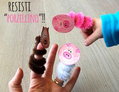 Pipecleaners finger puppets (italian blog)