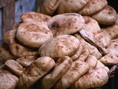 If you ask me about the single most food item I miss from Egypt, it would have to be the bread. Egyptian pita bread, or Aish Baladi, is the cornerstone of Egyptian cuisine. It's not only a ma… Egyptian Bread Recipe, Egyptian Food, Egyptian Recipes, Arabic Bread, Arabic Food, Pan Arabe, Bread Recipes, Cooking Recipes, Drink Recipes
