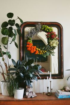 I love a pretty fall wreath hanging on my front door. The only problem is that in California it's still...