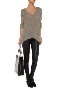 Chunky-knit wool-blend sweater by Helmut Lang