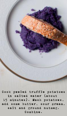 Dine & Dash: purple potato puree