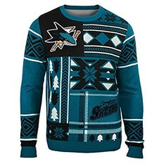Amazon.com   NHL Patches Ugly Sweater - Pick Team   Sports   Outdoors 7fa66b050