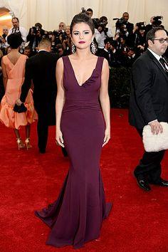 Selena Gomez in Diane von Furstenberg. Met Gala 2014