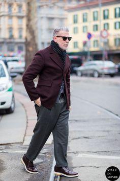 Nick Wooster Street Style Street Fashion Streetsnaps by STYLEDUMONDE Street Style Fashion Blog