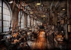 Machinist - A Fully Functioning Machine Shop Photograph by Mike Savad