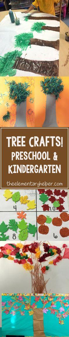 Tree Crafts! For preschool and kindergarten! #theelementaryhelper