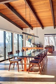 timber, spacious, glass, warm, bright