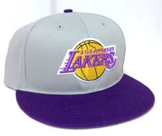 new LOS ANGELES LAKERS SNAPBACK HAT Gray/Purple/Yellow Flat-Bill LA Men/Women #NBAHardwoodClassicsFanFavorite #LosAngelesLakers