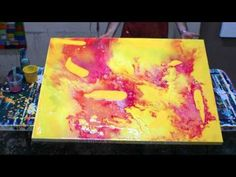 Fluid Abstract Art Lesson Demonstration - YouTube