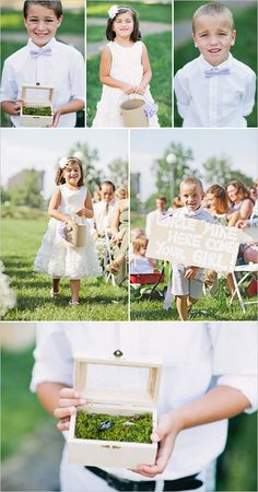 Super cute ring bearers and flower girl ideas. Captured By: Happy Confetti Photography ---> http://www.weddingchicks.com/2014/06/10/moms-wedding-shoes-wedding/