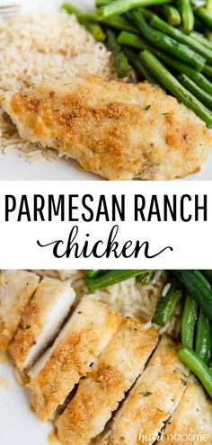 Parmesan Crusted Chicken - Great weeknight meal that's made with just 5 simple ingredients! Perfectly crispy, tender and flavorful every time! Parmesan Crusted Chicken - Great weeknight meal that's made with just 5 simple. Parmesan Crusted Chicken, Chicken Parmesan Recipes, Healthy Chicken Recipes, Recipe Chicken, Chicken Salad, Chicken Meals, Farm Chicken, Easy Recipes, Crockpot Ranch Chicken