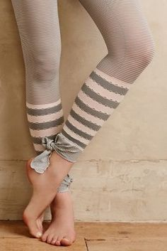 Anthropologie Mix-Stripe Tights #anthrofave