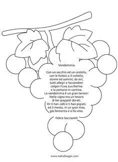 Autunno - TuttoDisegni.com Kindergarten Science, Nursery Rhymes, Montessori, Art For Kids, Coloring Pages, Applique, Clip Art, Fairy Tales, Seasons