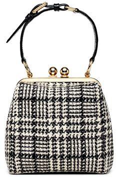 Dolce & Gabbana Handbag Fall/Winter 2013 bolso asa corta boquilla cuadros blanco y negro