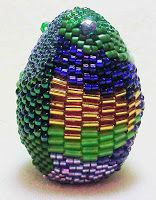 Freeform peyote beaded egg