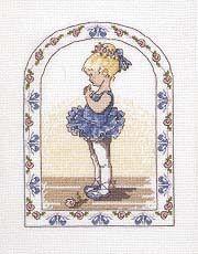 Punto de Cruz GRATIS: Niña Bailarina de Azul