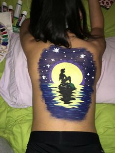 Ariel portrait body paint