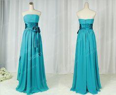 strapless bridesmaid dress green bridesmaid dresses by sofitdress, $119.00
