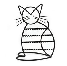 Cat shaped earring holder