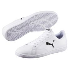 <H6>PRODUCT STORY</H6><p>Puma Smash Cat L is a new take on the classic PUMA tennis style. With an embroidered PUMA cat on both quarters and a soft genuine leather upper, this classic tennis silhouette is made for every day style.</p><br><h7>DETAILS</h7><ul><li>Leather upper</li><li>Lace closure for adjustable fit</li><li>Grippy rubber outsole</li><li>PUMA Logo Label at tongu...