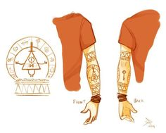 Yes please, I want this as a tattoo, imma geek when it come to Bill Cipher or Gravity Falls! I'd put this tattoo on my right arm! Gravity Falls Dipper, Gravity Falls Fan Art, Gravity Falls Bill, Gravity Falls Cosplay, Dipper Y Mabel, Dipper Pines, Billdip, Monster Falls, Arte Lowrider