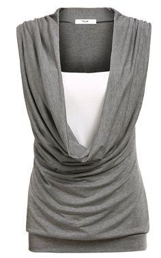 FashionShop365 Women's Sleeveless Casual Loose Rayon Tank Top Shirt Dark Gray XXL at Amazon Women's Clothing store: