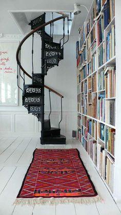 exactement l'escalier en colimaçon avec la bibliothèque que je désire ! ;-)
