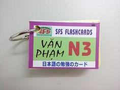 Thẻ Học Tiếng Nhật Ngữ Pháp N3 - 1 xấp - SFS Flashcard