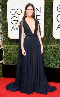 Mandy Moore from 2017 Golden Globes Red Carpet  In Naeem Khan