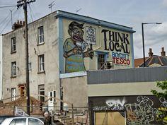 THINK LOCAL - BOYCOTT TESCO, Bristol, UK, Photo: caratello