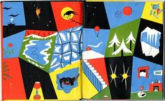 Winter Noisy Book by Margaret Wise Brown. Illustrated by Charles G. Shaw, Harper & Row, 1947 - endpapers
