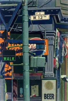 1993 West 12th Street watercolour on paper 72.4 x 53.3 cm © Robert Cottingham