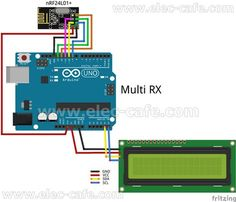 Multiple Nodes nRF24L01+ Wireless Temperature DS18B20 with Arduino UNO (2 Transmitter , 1 Receiver)   Elec-Cafe.Com