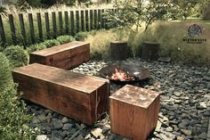Garden in Berlin designed by Wiktor Klyk in The benches were made of one t. Garden in Berlin Above Ground Pool Landscaping, Modern Landscaping, Outdoor Landscaping, Front Yard Landscaping, Garden Fire Pit, Fire Pit Backyard, Landscape Architecture, Landscape Design, Diy Garden Furniture