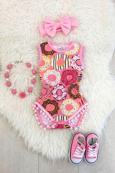 Pink Sprinkles Pom Pom Romper - Sparkle in Pink