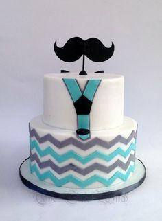 Little man moustache theme cake cakes