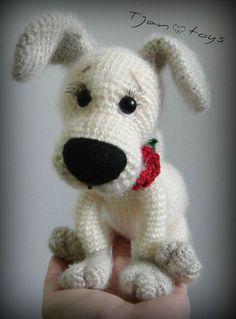 Puppy OOAK Little Dog Stuffed Animals Crochet Handmade by Tjan