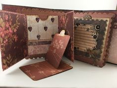mini scrapbook album using Santoro London Paper Collection Santoro London, Mini Albums, Steampunk, Crafting, Scrapbooking, Things To Come, Paper, Cards, Collection