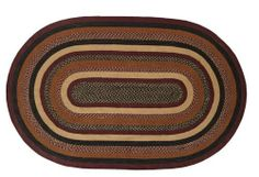 """Bancroft Jute Rug Oval 36x60"""" by Victorian Heart. $64.85. Product measurements and additional details listed in title and/or Product Description below.. All cloth items in our collections are 100% preshrunk cotton. All braided items (like rugs, baskets, etc.) are 100% jute. Extensive line of matching items and accessories available! (Search by Collection name). Bancroft Collection colors: Burgundy, Black, Brown, Khaki (not all items have all colors). High end quality ..."""