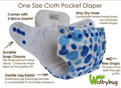 Go to @iloveclothdiapers.com to enter to win a @wolbybug One Size Pocket Diaper w/2 inserts.