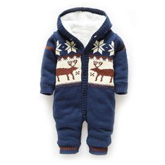 Baby Rompers Winter Thick Outwear