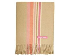 Simple Things Baby Alpaca throw Candy Stripes, Camel, 180 x 130 cm.  2013 color scheme.