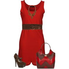 Simply Red Chevon by angiejane on Polyvore