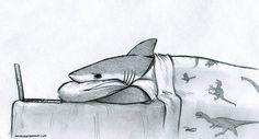 37 Ideas funny illustration art dreams for 2019 Art And Illustration, Illustrations, Hai Tattoos, Shark Drawing, Shark Art, Cute Shark, Wow Art, Cute Drawings, Art Inspo
