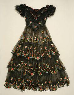 Dress, Evening Date: 1856 Culture: British (probably) silk