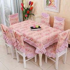 Kitchen Table Chairs, Dining Tables, Lace Tablecloths, Fabric Chairs, Chair  Covers, Cover Picture, Crochet Lace, Carpets, Shabby Chic