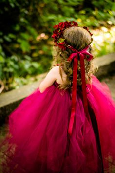 Burgundy Flower Girl Dress Also Available in by TutuTerritory
