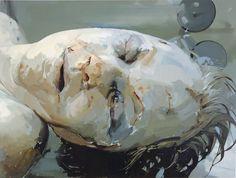 Still, 2003, by Jenny Saville, imageen creada por adición ( oleo sobre lienzo )